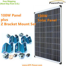 100W 100 Watts Photovoltaic Solar Panel + $20 Mount for 12v volt Battery RV Boat