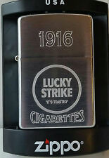 Zippo Lucky Strike lighter 1916 New in Box Rare Chrome Vintage Limited Made 2005