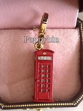 VERY RARE! BRAND NEW JUICY COUTURE LONDON TELE PHONE BOOTH CHARM IN TAGGED BOX