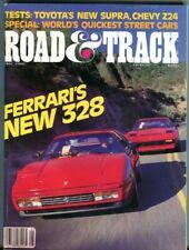 Road & Track 1986 May - Z24, 328Gts, Scarab, Sierra-T