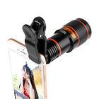 For Universal Phone 12X Zoom Optical Clip Telephoto Telescope Camera Lens Photos