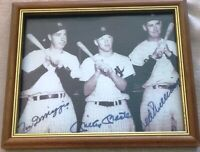 Mickey Mantle-Joe D-Ted Williams -Autographed-8x10-Picture (Rare Photo) No Frame