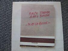 Ralph Towner & Gary Burton - Match Book - OOP 1975 ECM Rec.  Indi release LP VG