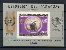 Paraguay 1965, le Pape Paul VI, space in spécimen imperf neuf sans charnière m / s #A 60854