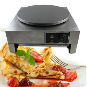 Used 110V Commercial Electric Single Crepe Maker Pancake Machine Big Hotplate