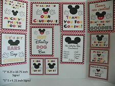 Disney Mickey Mouse DELUXE 13 Piece Cardstock Birthday Party Set Red MRP $19