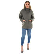 Ladies Womens Girls Rubberised Waterproof Rain Coat  PU PVC Hooded Parka Jacket