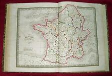 1838: DA ATLAS MONIN.MAPPA GEOGRAFICA = GALLIA DIVISA IN 17 PROVINCE = ETNA