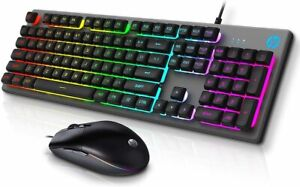 Keyboard and Mouse, HP Gaming Mechanical RGB Backlit Mouse  & Keyboard KM300F