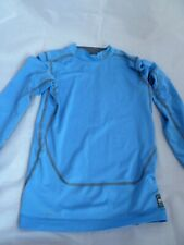 Nike Pro Combat Boys Girls Blue Sports Compression Skin / Underlayer 10-12 yrs M