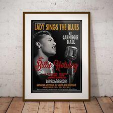 Billie Holiday 1956 Carnegie Hall Concert Poster Framed 3 Print Option EXCLUSIVE
