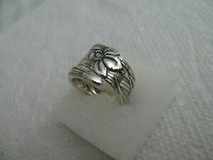 TIFFANY Sterling Silver spoon RING s 7.5 IRIS Jewelry # 7211