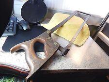 """27 1/4"""" Vintage Cast Steel Warranted Steel Back Butchers Bone saw 11TPI Blade"""