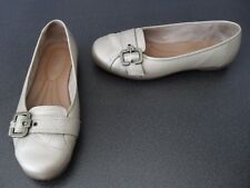 Ladies Hotter Thornberry real leather shoes in champagne colour, size 4.5 UK