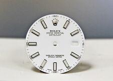 BRAND NEW Original WHITE ROLEX Date Just DIAL 41mm Stick Numeral