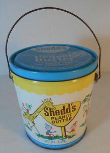 Vintage Shedd's Peanut Butter Zoo Animals & Elf's Tin Sand Pail 5 lb Detroit 2