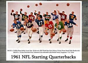 NFL 1961 Starting QB Quarterbacks Color 8 X 10 REPRINT Photo Picture