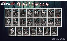 19-20 HALLOWEEN 2019 BLACK & WHITE BASE SET OF 23 CARDS Topps NHL Skate Digital