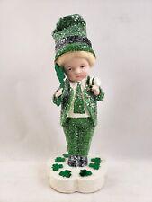 Keegan Irish Boy with Shamrock Figurine St Patrick's Day Margaret Haire New