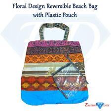 Floral Design Reversible Beach Shoulder Patterned Bag + Plastic Pouch (6)