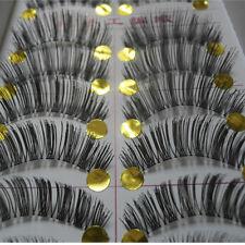 Bulk 10 Pairs Natural Makeup False Eyelashes Eye Lash Beauty Long Thick #XM1