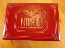 Vintage LONGINES-WITTNAUER Empty Presentation Box Red and Gold 5.5 x 3.5 Inches