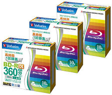 30 Verbatim dvd Blu ray BD-R DL Rohlinge 4x Speed 50GB Inkjet Printable Bluray
