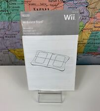 MANUAL ONLY Nintendo Wii Balance Board Operations 2008 English French Spanish