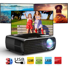7000 Lumens Projector Portable 3D 1080P LED HD Multimedia Home Theater HDMI USB