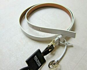 Michael Kors Casual Leather Belts For Women White/Green Sz M/L/XL- NWT $45
