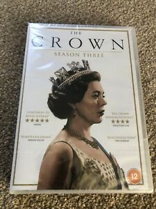 The Crown - Season 3 DVD (2020, 4-Disc Set) new and sealed