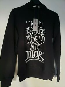 DIOR I want to shock the world with Dior embroidered black hoodie