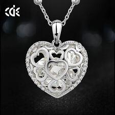 Modeschmuck-Halsketten & -Anhänger aus Kristall und Legierung mit Herz
