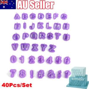 40Pcs/Set Alphabet Letter Number Cake Mold Fondant Biscuit Cookie Baking Mould