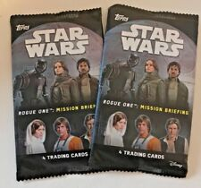 2 Packs of Star Wars Rogue One Mission Briefing Trading Cards