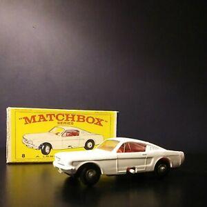 Matchbox Lesney #8 Ford Mustang In Original  Box VNM