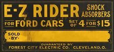 E-Z RIDER SHOCK ABSORBERS ADVERTISING METAL SIGN
