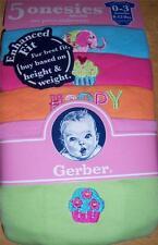 Gerber 5pk Short Sleeve Girl's Solid Onesies, Baby Shower, 0-3 Months