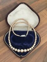 "Vintage 17"" Faux PEARL Single Strand NECKLACE Choker"