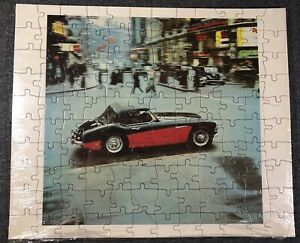 -Vintage- NOS Austin Healy Black and Red Sports Car Puzzle - SEALED