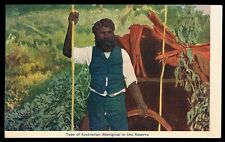 Australia • c1905 • Osboldstone Card • Australian Aboriginal in the Reserve
