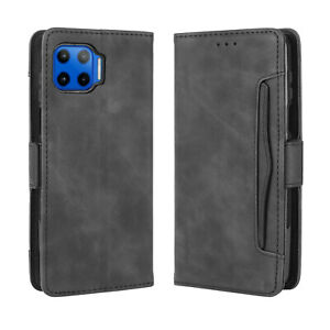 For Motorola Moto G 5G PLUS / One 5G Magnetic Flip PU Leather Wallet Stand Case