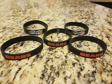 "5 Chicago Bears NFL Rubber Bracelets!!  ""Play60"" NFL Wristband"