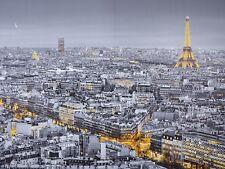 GIANT PHOTO WALLPAPER PARIS EIFFEL TOWER NIGHT MURAL 3.68 x 2.54m