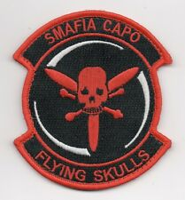 """USAF Patch 512th RESCUE SQUADRON - """"SMAFIA CAPO"""", 4"""" Size, Hooked Side Backing"""