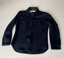 """""""FIDELITY"""" Wool CPO JACKET/SHIRT Dark Navy XL, made in USA selvage selvedge"""