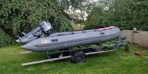 Avon Inflatable Boat with Mariner 40hp outboard SIB like Rib zodiac wakeboard