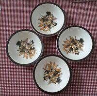 Doverstone Staffordshire: Heather 4× Vintage Cereal Bowls