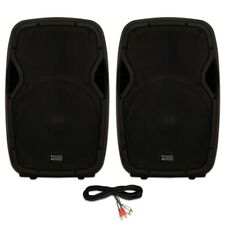 "Acoustic Audio AA15BT Powered 2000 Watts 15"" Bluetooth Speakers 2 Way USB MP3 DJ"