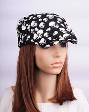 JM359 Skull Cotton Gatsby Cap Men Newsboy Ivy Hat Golf Driving Flat Cabbie Women